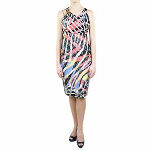 Just Cavalli Printed Jersey Cocktail Dress